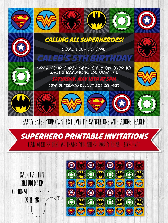 Super Hero Birthday Invitation New Superhero Party Invitation – Wonderbash