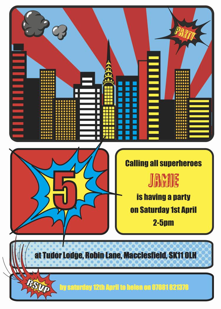 Super Hero Birthday Invitation Unique Cococards Weekly Party Idea Superhero Party