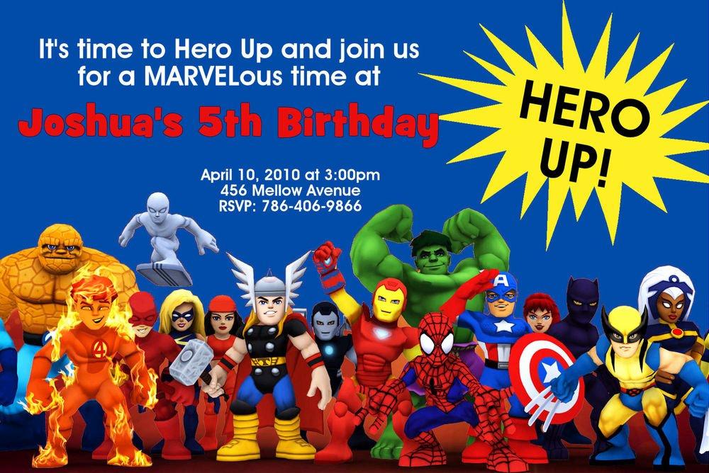 Super Hero Birthday Invitations Fresh Super Hero Squad Birthday Party Invitations 24hr Service Uprint 4x6 or 5x7