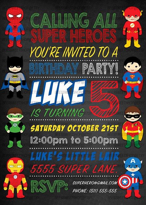 Super Hero Birthday Invitations Unique Superhero Birthday Invitations Printable Digital by Gladiolapress Birthday Parties