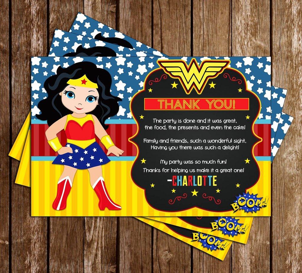 Super Hero Birthday Party Invitations Elegant Novel Concept Designs Wonder Woman Superhero Birthday Party Invitation