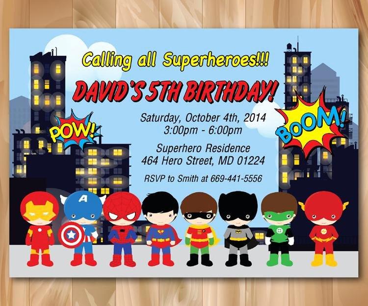 Super Hero Birthday Party Invitations Elegant Super Hero Birthday Party Invitation by Prettypartydesign On Etsy