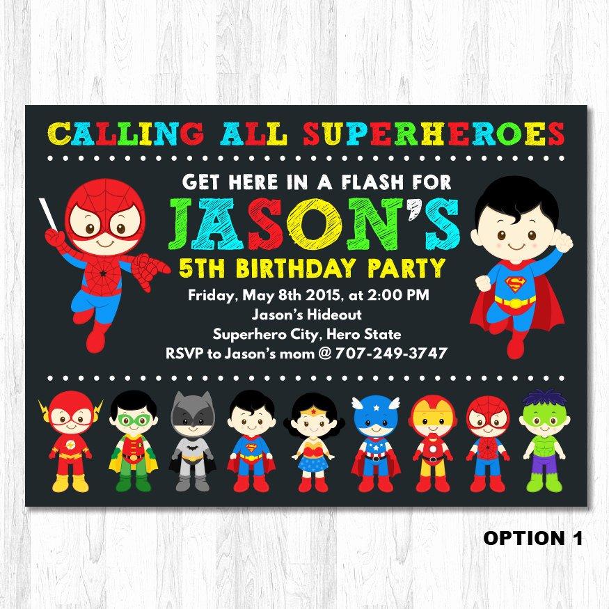 Super Hero Birthday Party Invitations Elegant Superhero Invitation Superhero Birthday Invitation by Kidzparty