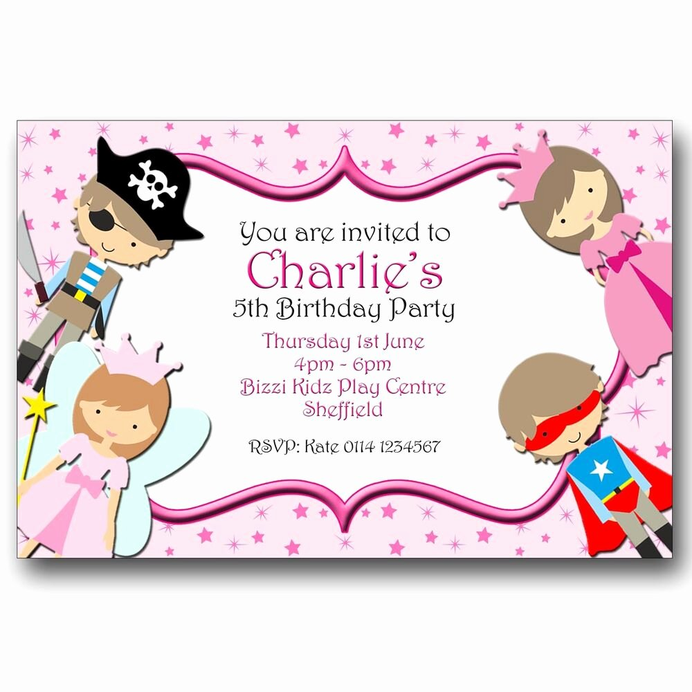 Super Hero Birthday Party Invitations Lovely Personalised Birthday Party Invitations Fairy Princess Pirate Superhero A179