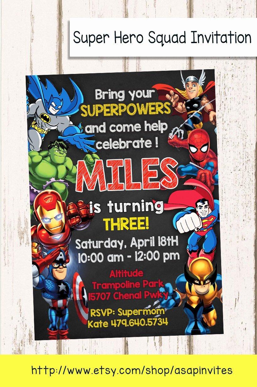 Super Hero Birthday Party Invitations Unique Superheroes Superhero Birthday Party Avengers Super Hero