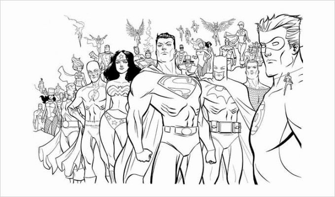 Super Hero Coloring Page Beautiful Superhero Coloring Pages Coloring Pages