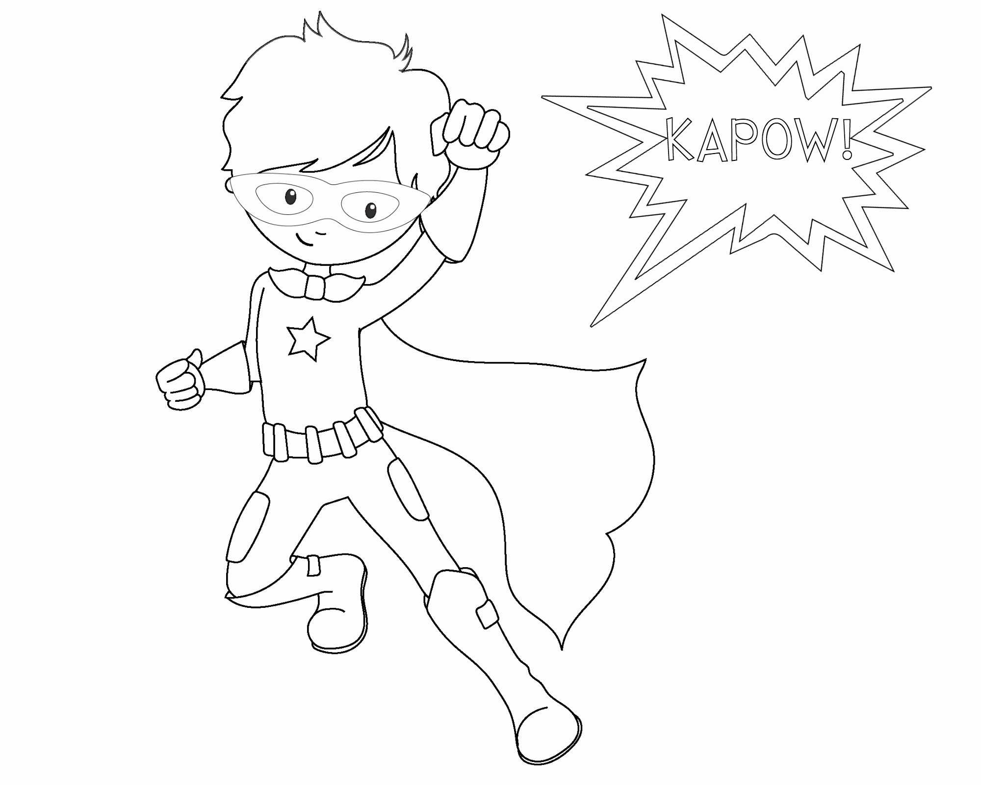 Super Hero Coloring Page Elegant Free Printable Superhero Coloring Sheets for Kids Crazy Little Projects