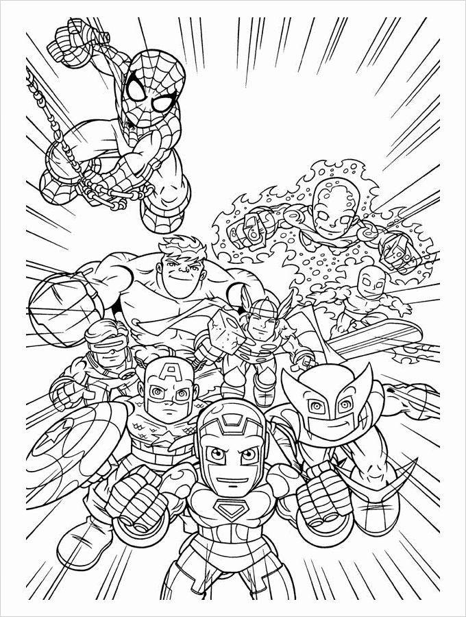 Super Hero Coloring Page Inspirational Superhero Coloring Pages Coloring Pages