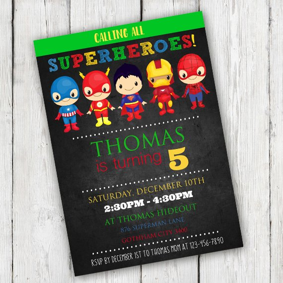 Superhero Birthday Invitations Templates Free Beautiful Superhero Birthday Party Invitation Template Edit with Adobe Readerparty Printables