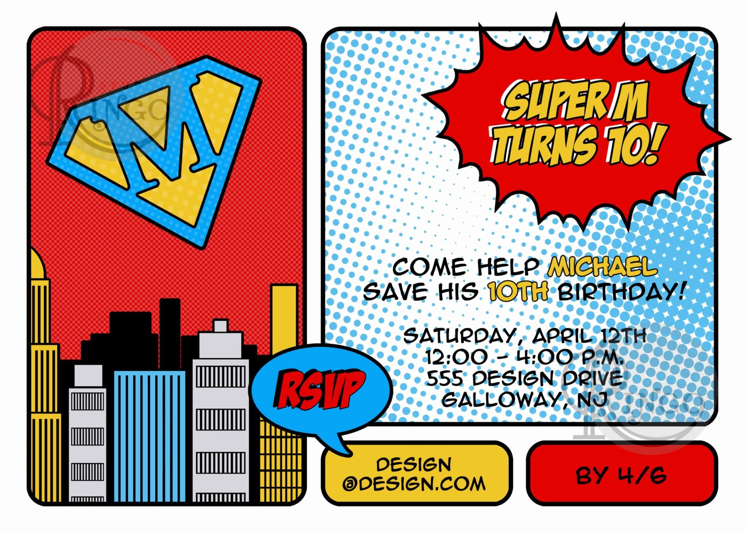 Superhero Birthday Invitations Templates Free Elegant Free Printable Superhero Birthday Invitations
