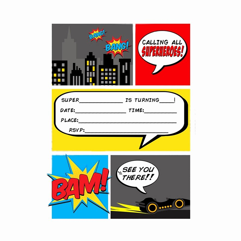 Superhero Birthday Invitations Templates Free Fresh Index Of Cdn 21 1990 939