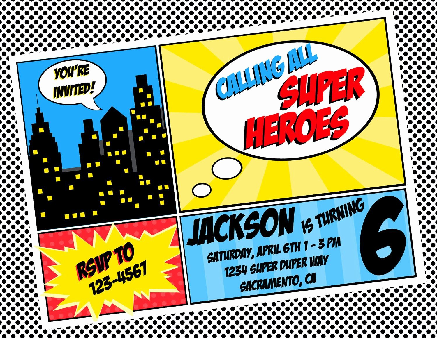 Superhero Birthday Invitations Templates Free Lovely Free Superhero Invitation Templates Invitation Templates Supertucker Turns 4