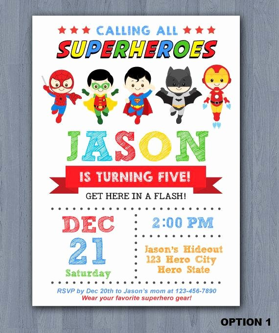 Superhero Birthday Invitations Templates Free Luxury Superhero Birthday Invitation Superhero Invitation Avengers Invitation