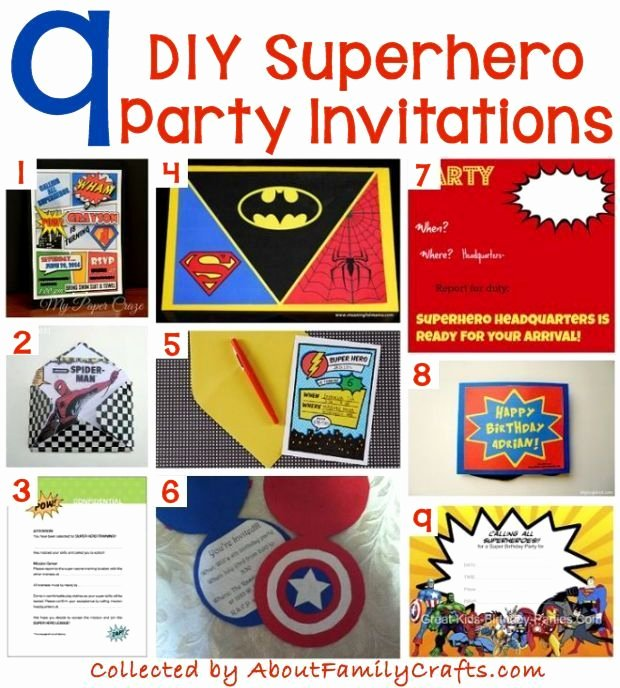 Superhero Birthday Party Invitations Best Of 70 Diy Superhero Party Ideas – About Family Crafts