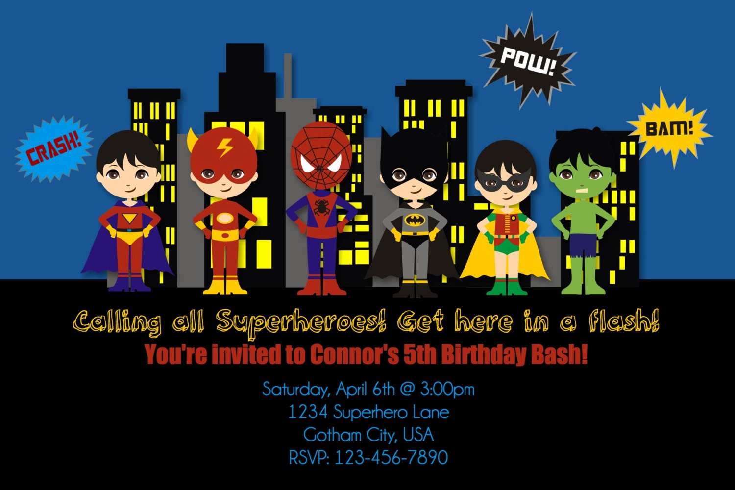 Superhero Birthday Party Invitations Luxury Free Printable Superhero Birthday Invitations – Free Printable Birthday Invitation Templates