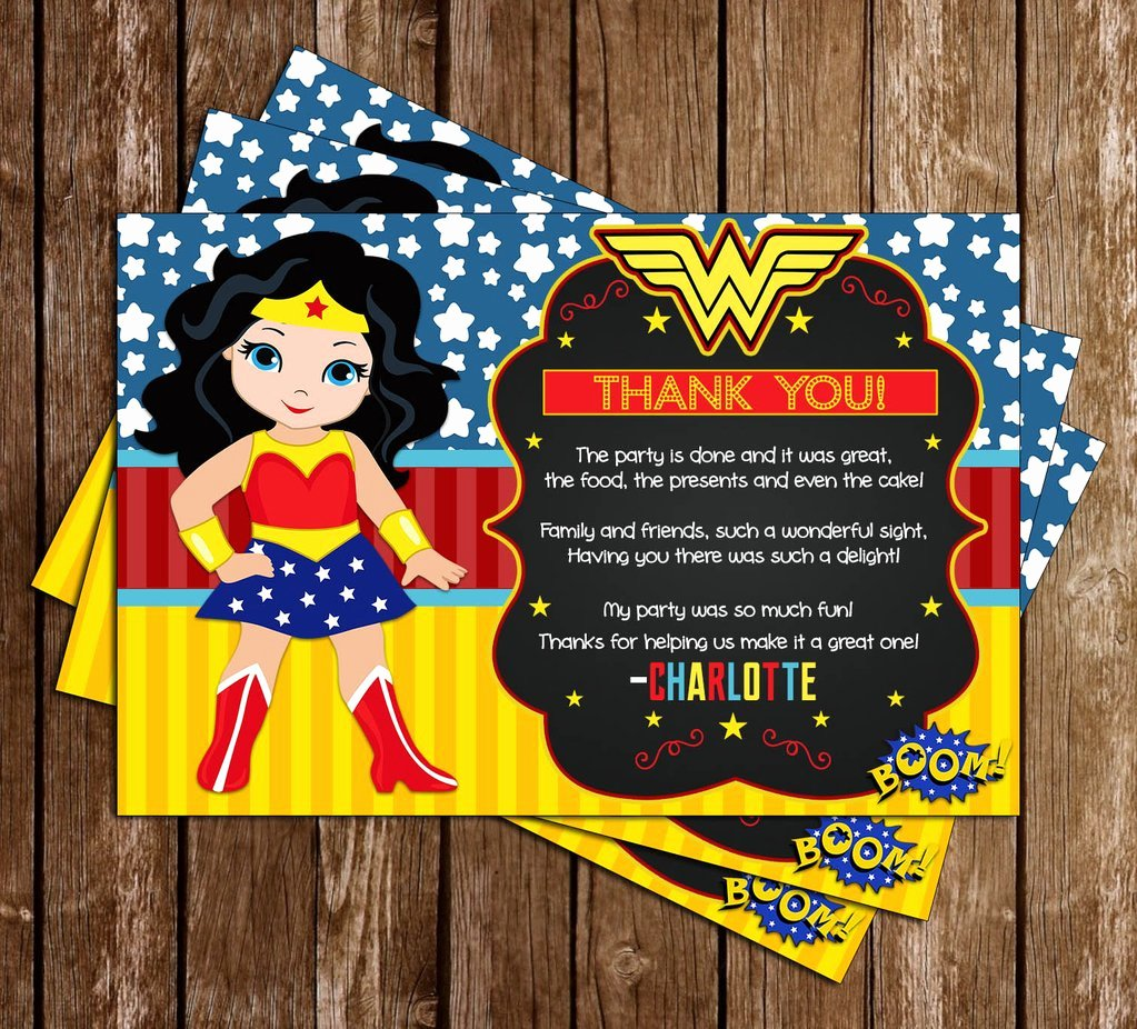 Superhero Birthday Party Invitations Unique Novel Concept Designs Wonder Woman Superhero Birthday Party Invitation