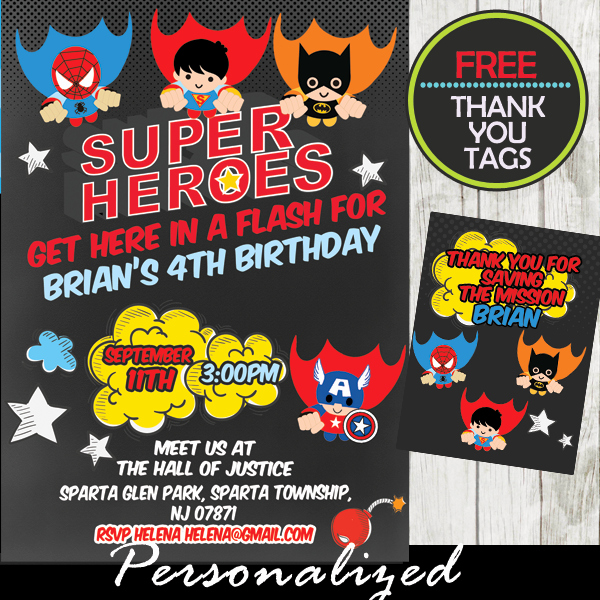 Superheroes Birthday Party Invitations Beautiful Flying Superheroes Ic Birthday Invitation