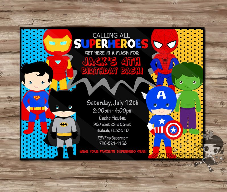 Superheroes Birthday Party Invitations Fresh Superhero Invitation Superhero Invitation Superhero Invitation