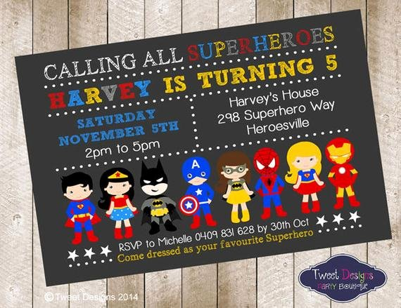 Superheroes Birthday Party Invitations Inspirational Superhero Boy Invitation Superhero Birthday by