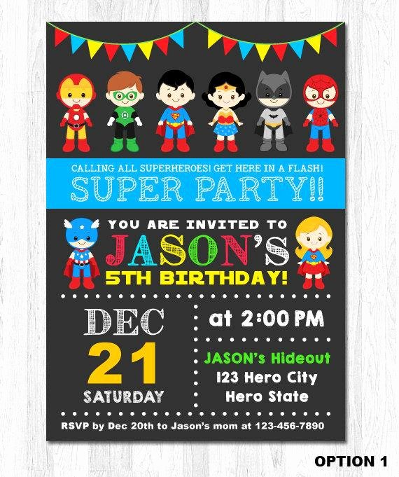 Superheroes Birthday Party Invitations Inspirational Superhero Invitation Superhero Birthday Invitation by