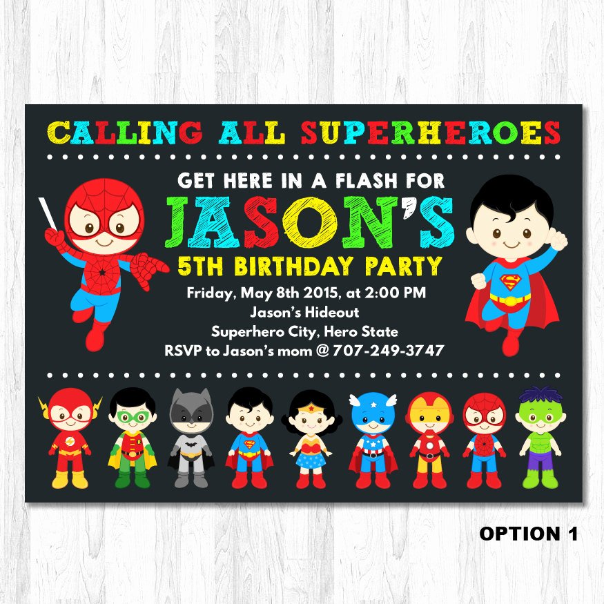 Superheroes Birthday Party Invitations Unique Superhero Birthday Invitation Superhero Boy by Kidzparty