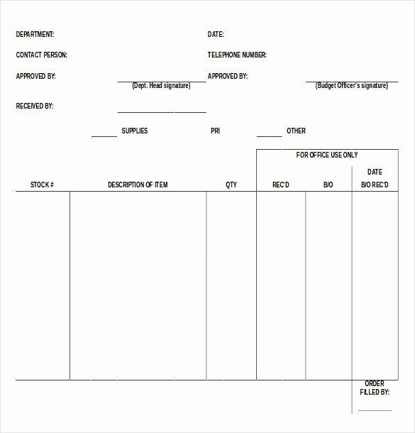 Supply order form Template New 43 Blank order form Templates Pdf Doc Excel