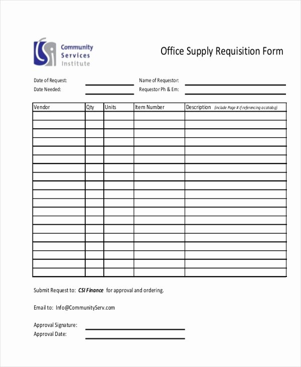Supply order form Template New Sample Requisition form 11 Free Documents In Doc Pdf Excel