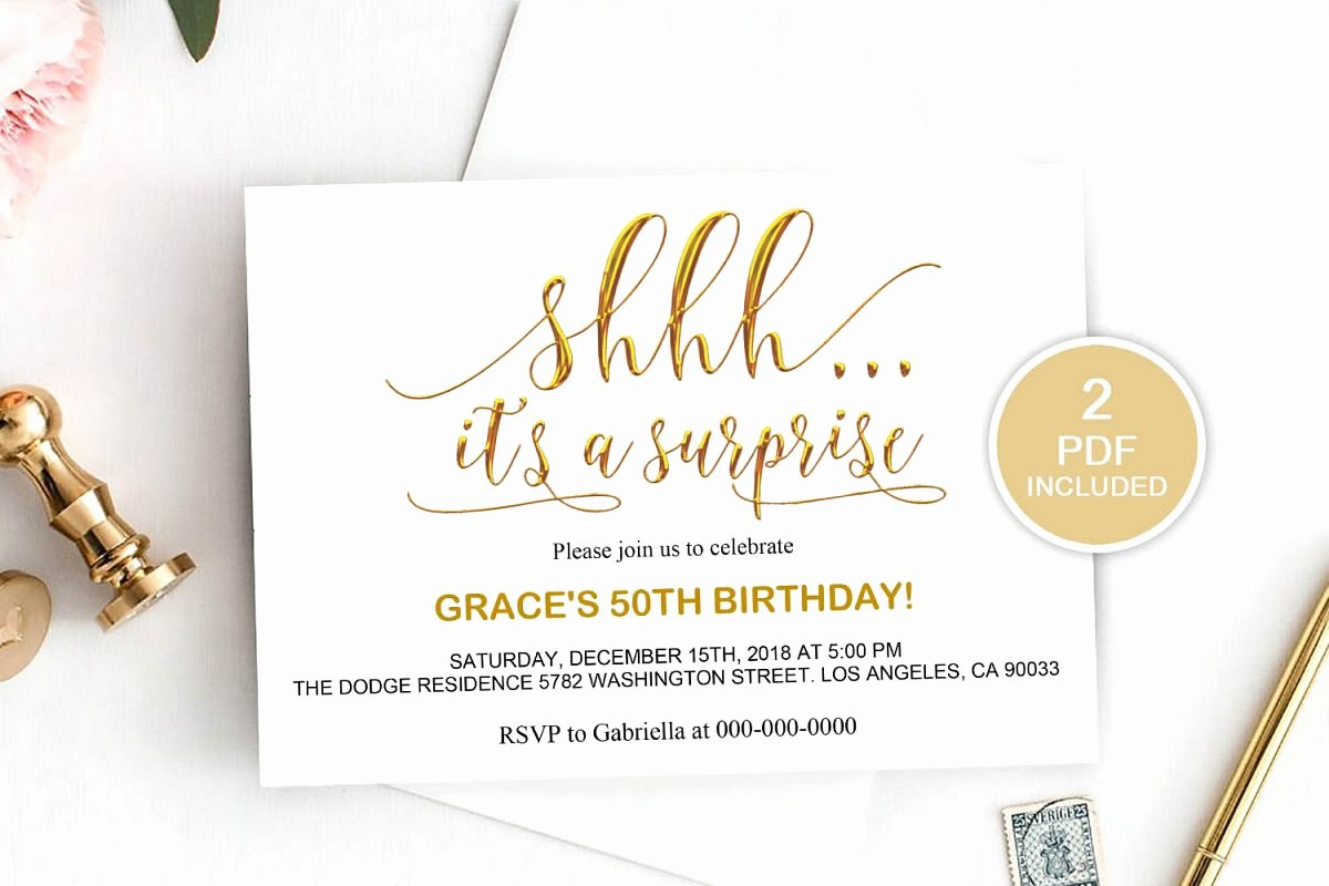 Surprise Party Invitation Template Fresh Surprise Party Invitation Template Dad 20