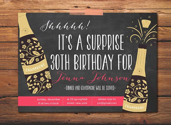 Surprise Party Invitation Template Luxury 17 Outstanding Surprise Party Invitations & Designs