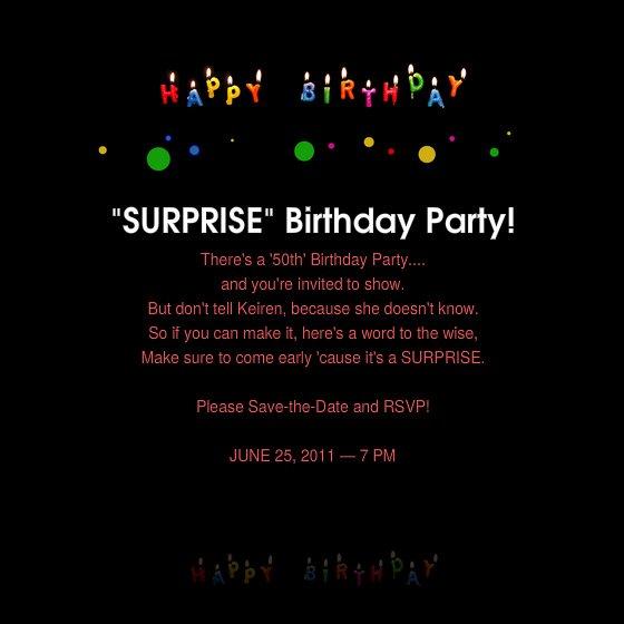 Surprise Party Invitation Templates Fresh 50th Birthday Surprise Party Invitations Free Invitation Templates Drevio