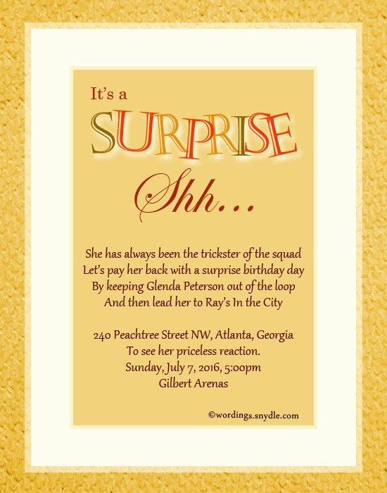 Surprise Party Invitation Templates Fresh Ideas to Surprise Your Bridesmaids – Ruize Clothing