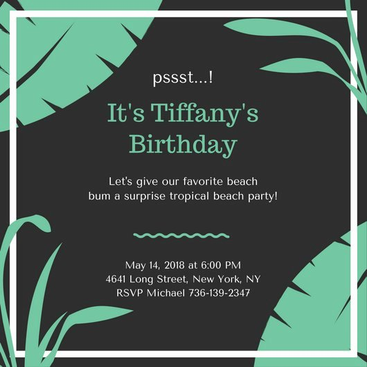Surprise Party Invitation Templates Lovely Customize 3 999 Surprise Party Invitation Templates Online Canva