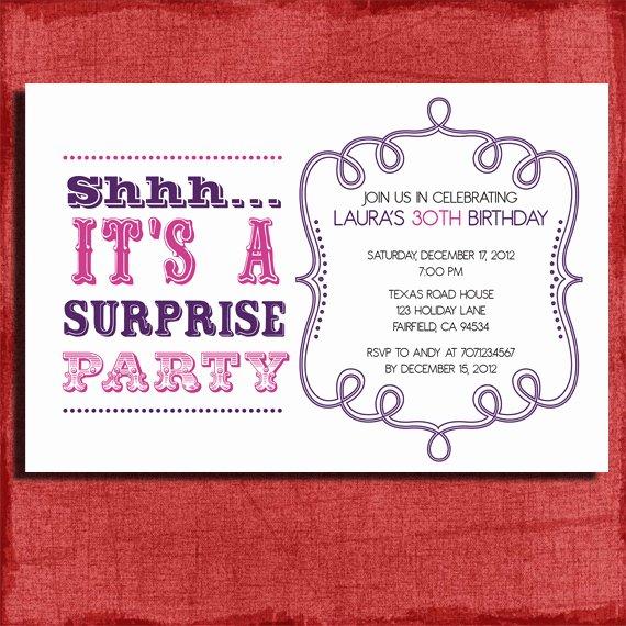Surprise Party Invitation Templates Luxury Free Surprise Birthday Party Invitations Templates