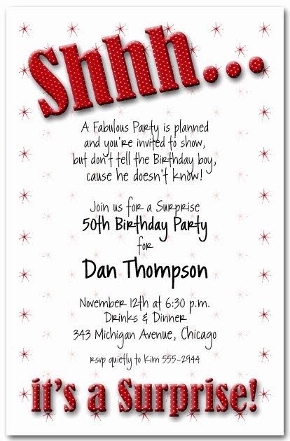 Surprise Party Invitation Templates Unique Shhh Red Polka Dot Surprise Party Invitations