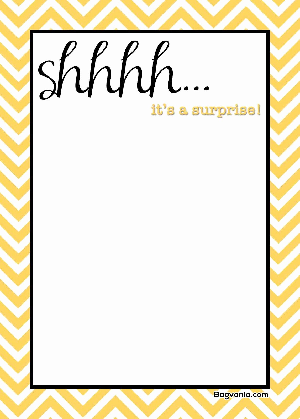 Surprise Party Invitations Templates Free Awesome Free Printable Surprise Birthday Invitations – Free