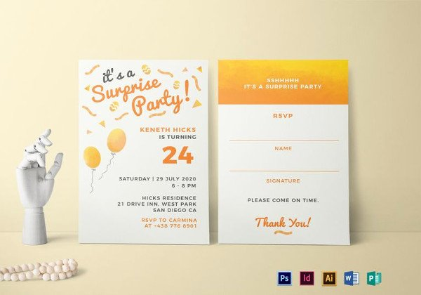 Surprise Party Invitations Templates Free Beautiful 250 Blank Templates Free Word Excel Pdf Documents