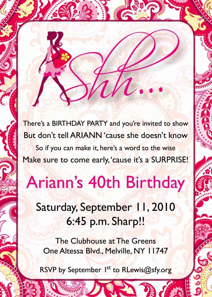 Surprise Party Invitations Templates Free Beautiful Free Printable Surprise Birthday Invitations