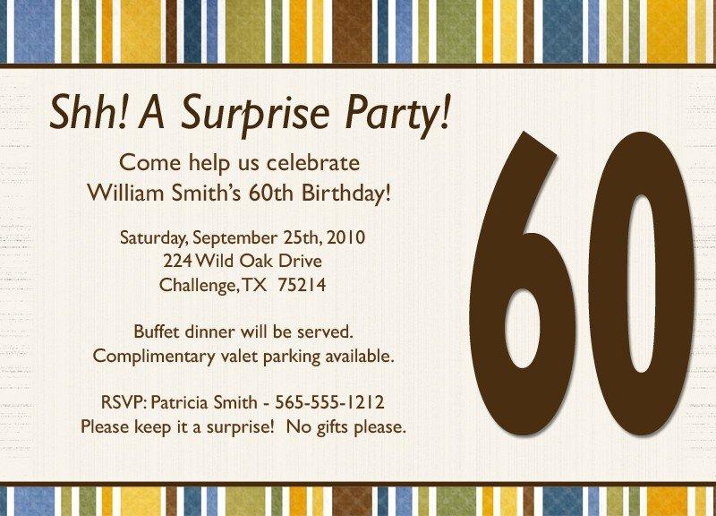 free surprise birthday party invitations