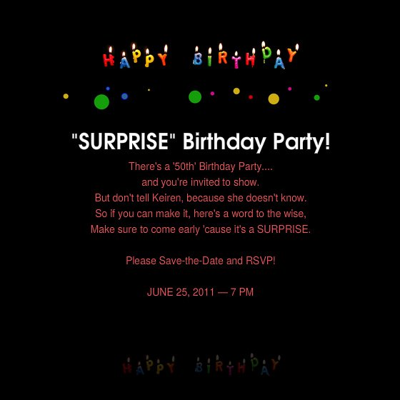 Surprise Party Invitations Templates Free Elegant Surprise 50th Birthday Invitations Wording Free