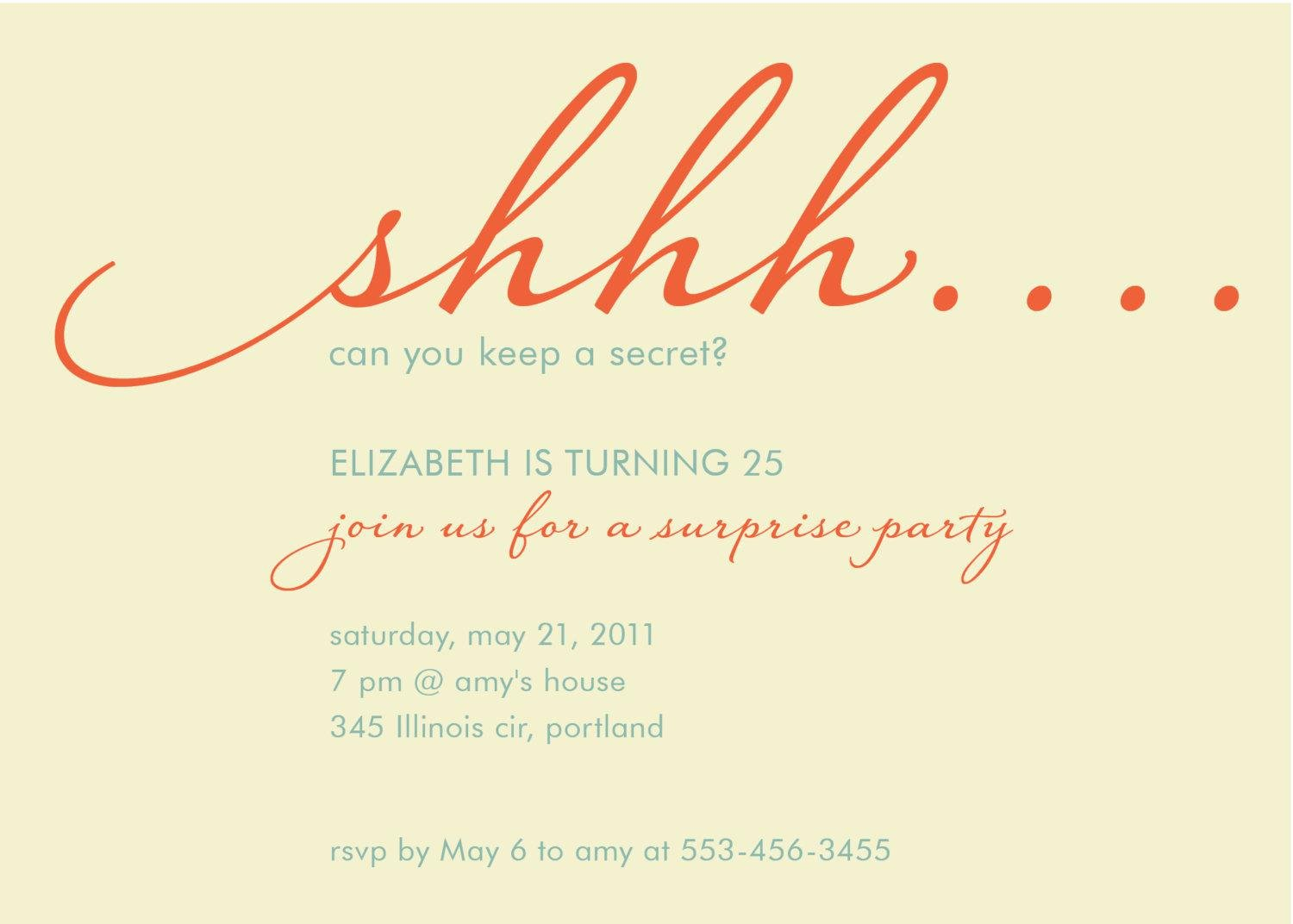 Surprise Party Invitations Templates Free Inspirational Surprise Birthday Invitations Surprise Birthday