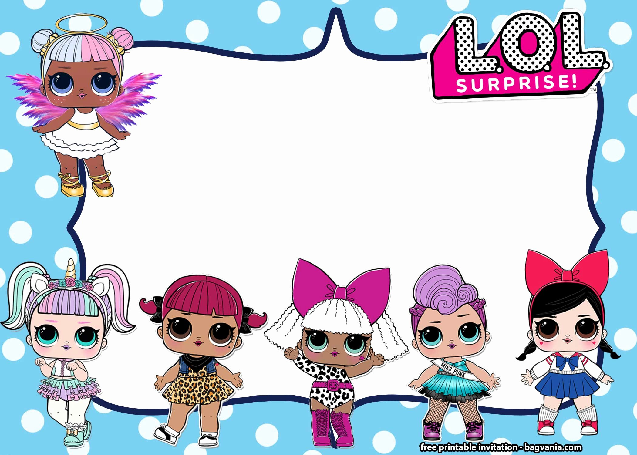 Surprise Party Invitations Templates Free Lovely Free Lol Surprise Dolls Invitation Templates – Free