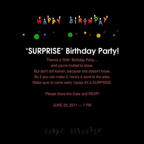 Surprise Party Invitations Templates Free New Free Surprise 50th Birthday Party Invitations Templates