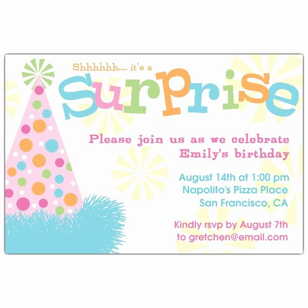 Surprise Party Invitations Templates Free New Free Surprise Birthday Party Invitations Free Invitation