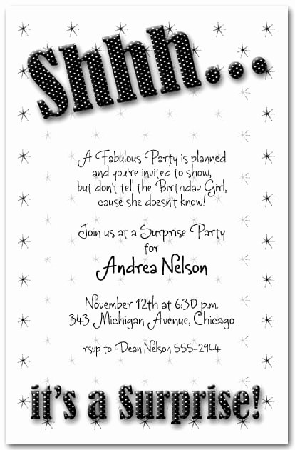 Surprise Party Invitations Templates Free Unique Surprise Party Invitation Templates Free
