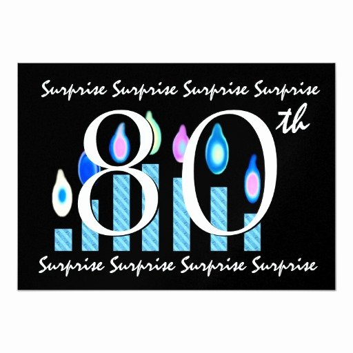 Surprise Party Invites Templates Awesome 80th Surprise Birthday Party Invitation Template