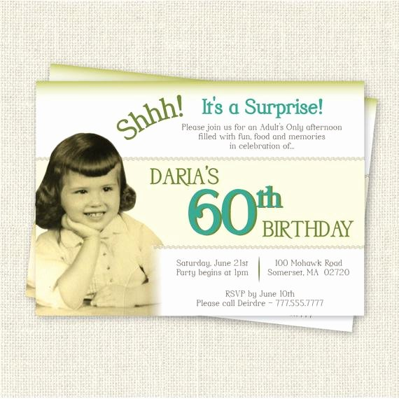 Surprise Party Invites Templates Best Of Surprise 60th Birthday Invitation Digital Printable File