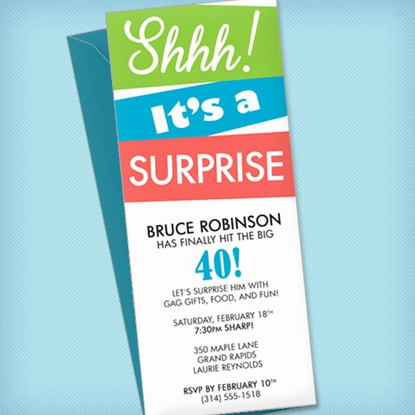 Surprise Party Invites Templates Inspirational Surprise Party Invitation Template