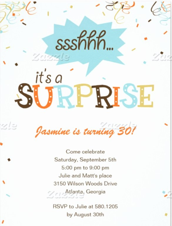 Surprise Party Invites Templates Lovely 14 Surprise Birthday Invitations Free Psd Vector Eps Ai format Download