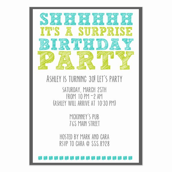 Surprise Party Invites Templates Lovely Surprise Birthday Party Invitations & Cards On Pingg