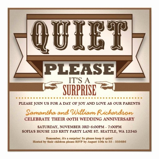 Surprise Party Invites Templates Luxury Surprise Anniversary Invitation Quotes Quotesgram